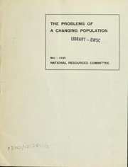 Cover of: The problems of a changing population |