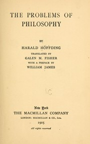Cover of: The problems of philosophy