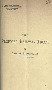 Cover of: The proposed railway trust