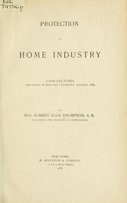 Cover of: Protection to home industry