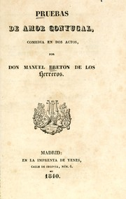 Cover of: Pruebas de amor conyugal