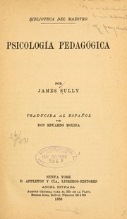 Cover of: Psicología pedagógica