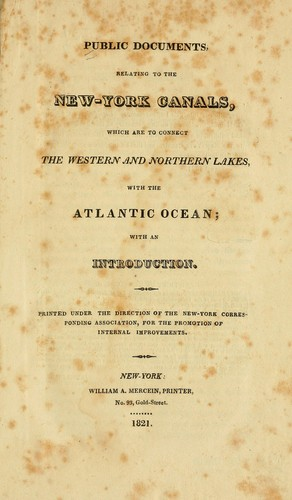 Public documents, relating to the New-York canals