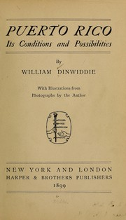 Cover of: Puerto Rico by Dinwiddie, William