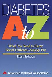 Cover of: Diabetes A to Z