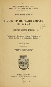 Cover of: Quality of the water supplies of Kansas