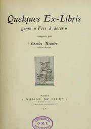 "Cover of: Quelques ex-libris, genre ""fers à dorer"""