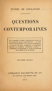 Cover of: Questions contemporaines ...