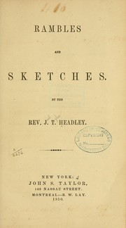 Cover of: Rambles and sketches