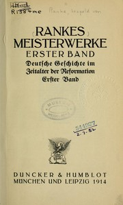 Cover of: Rankes Meisterwerke