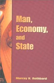 Cover of: Man, economy, and state