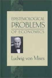 Cover of: Epistemological Problems of Economics