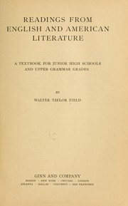 Cover of: Readings from English and American literature. | Walter Taylor Field