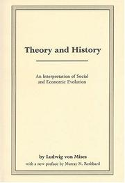 Cover of: Theory and History