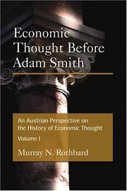 Cover of: An Austrian Perspective on the History of Economic Thought