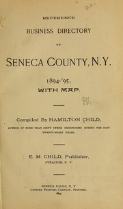 Cover of: Reference business directory of Seneca County, N.Y., 1894-'95 ...