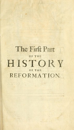 The history of the reformation of the Church of England.