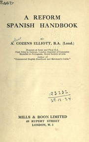 Cover of: A reform Spanish handbook | Arthur Cozens Elliott