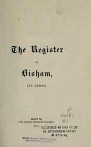 Cover of: The register of Bisham, co. Berks, 1560-1812 by Bisham, England
