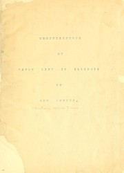 Cover of: Reminiscences of early life in Illinois | Tillson, Christiana Holmes