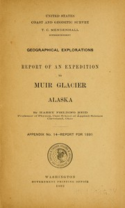 Cover of: Report of an expedition to Muir glacier, Alaska