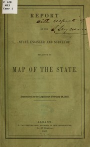 Cover of: Report of the state engineer and surveyor relative to map of the state