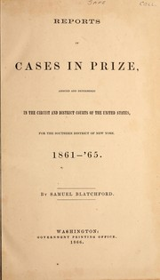 Cover of: Reports of cases in prize