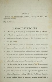 Cover of: Resolutions