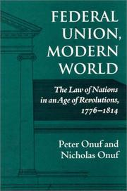 Cover of: Federal Union, Modern World