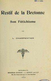 Cover of: Restif de la Bretonne