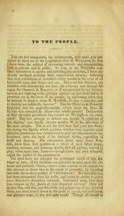 "Cover of: A review of the Late canvass and R. Wickliffe's speech on the ""Negro law"""