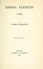 Cover of: Rhoda Fleming, a story | George Meredith