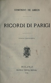 Cover of: Ricordi di Parigi