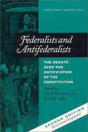 Cover of: Federalists and Antifederalists | John P. Leffler,  Richard Kaminski