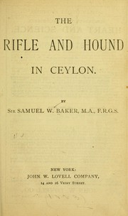 Cover of: The rifle and hound in Ceylon