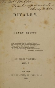Cover of: Rivalry | Henry Milton