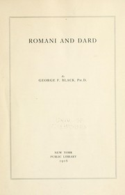Cover of: Romani and Dard | George Fraser Black