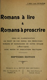 Cover of: Romans à lire & romans à proscrire ...