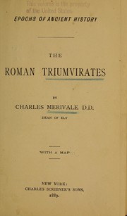 Cover of: The Roman triumvirates