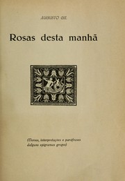 Cover of: Rosas desta manhã