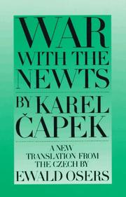 Cover of: War with the newts | Karel ДЊapek