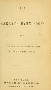 Cover of: The Sabbath hymn book