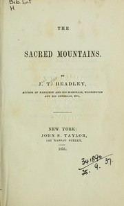 Cover of: The sacred mountains