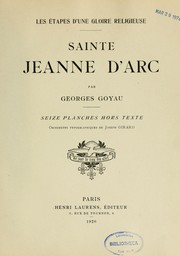 Cover of: Sainte Jeanne d'Arc
