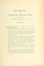 Cover of: Salon Louis XVI