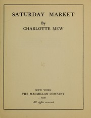 Cover of: Saturday market