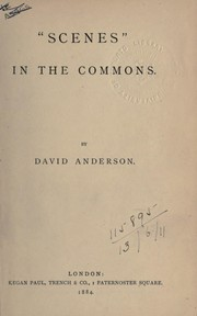 """Scenes"" in the Commons by David Anderson"