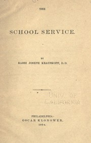 Cover of: The school service