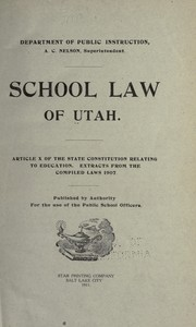 Cover of: School law of Utah