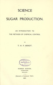 Cover of: Science in sugar production